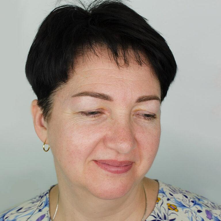 Зажившие губы и бровки до коррекции